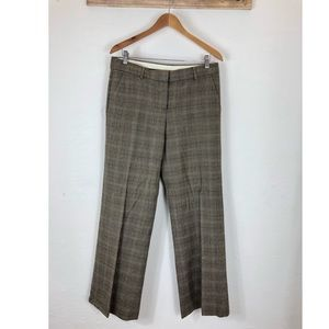 THEORY plaid wide leg trousers